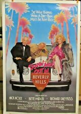 1986 Down And Out In Beverly Hills Orig. Movie Poster-BETTE MIDLER, NICK NOLTE