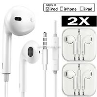 2 PCs Headphone Earphone With Remote & Mic For Android Apple iPhone 6S 6 5 5s 4s
