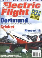 ELECTRIC FLIGHT MAGAZINE 1998 JUN NIEUPORT 12, MODEL SHACK CRICKET SPORTS MODEL
