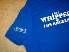Pinnacle Vodka I GOT WHIPPED IN LOS ANGELES Blue Womens LARGE T Shirt Ladies Tee