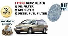 FOR CHRYSLER GRAND VOYGER 2.5DT 2.8DT 2000-2007 OIL AIR FUEL FILTERS SERVICE KIT