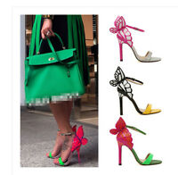Womens Candy Stilettos High Heel Butterfly Ankle Strap Party Sandals Shoes Hot
