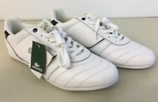 LaCoste Mens 12 Shoes Kade Light Lace Up White Leather New w/tag Trainer 46 Eur