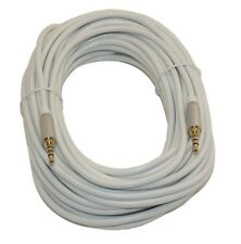 "50 Ft DC Pro Premium 3.5mm (1/8"") Stereo 4-Pole TRRS Male to Male Cord Cable."