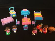 Dora The Explorer Dollhouse Furniture Accessories Figures Lot
