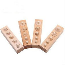 Wooden Montessori Educational Material - Knobbed Cylinder Family Set AS