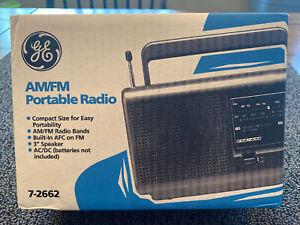 GE AM FM Portable Radio 7-2662 NOS NEW SEALED