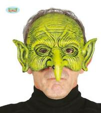 Maschera Stregone Mezzoviso Travestimento Halloween Strega Carnevale Nuovo
