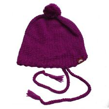 Spacecraft Collective TASSEL POM Womens Hand Knit Beanie One Size Berry NEW