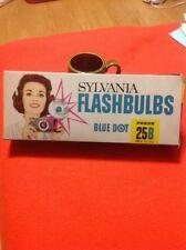 Vintage Sylvania Flashbulbs Blue Dot 25B Sure Shots Total Of 7 Bulbs