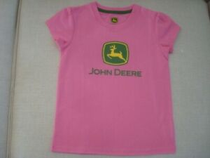Authentic John Deere Girl/'s Size 12 Months Pink Glitter Logo Long Sleeve NWT