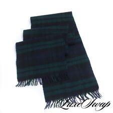 #1 MENSWEAR Johnstons Made Scotland 70/30 Cashmere Wool Blackwatch Tartan Scarf