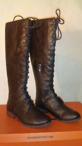 ROCKET DOG BARKER LODGE WOMENS 8M Brown Tall RIDING Boots NEW!!!
