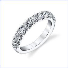 Gregorio: 9 Larger Diamonds = 1.30ctw Diamond Wedding Band G VS 18K White Gold
