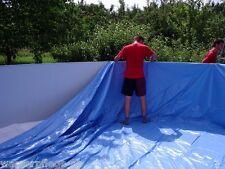 Innenhülle Poolfolie Oval 6,40 x 3,70 x 1,20m blau 0,5mm Schwimmbadfolie