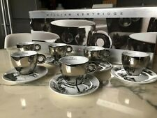 Illy art collection cups William Kentridge 2008 cappuccino numbered set of 6