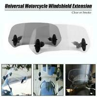 Motorcycle Parts Adjustable Clip On Windscreen Extension Spoiler Air Deflector