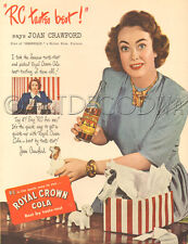 VTG 1940's RC COLA Joan Crawford Movie Star DOG Spaniel Figurine SODA Drink AD