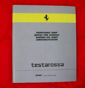 Ferrari Testarossa - RARE Service Time Schedule incl USA/CH - 1989 Tech Manual