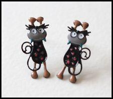 Boucles d oreilles BIJOUX LOL chat  noir rose Lolilota mode fun