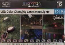 Enbrighten 9-Bulb 80 ft. Bronze Outdoor Integrated LED Color Changing Landscape