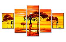 Bild 5 tlg afrika Bild visario MarkenLeinwand 160x80cm XXL Bilder Nr 5584 >