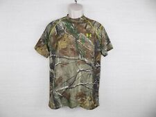 Under Armour Mens Scent Control Shirt Small UA Tech Short Sleeve Camo Hunting
