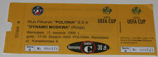 Ticket for collectors EC Polonia Warszawa - Dynamo Moscow 1998 Poland Russia