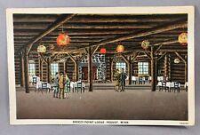 c 1920 BREEZY POINT LODGE Minnesota PEQUOT Resort Advertising Postcard Vintage