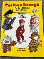 Vintage 1982 CURIOUS GEORGE Paper Dolls Book UNCUT Full Color Kathy Allert