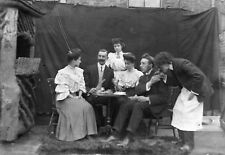 THEATRICAL GROUP #4 Antique Photographic Glass Negative (1910s Cafe Costumes)