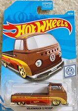 hot wheels 2019 VW pickup volkswagen T2 combi bay marron Blister US COLLECTOR !!
