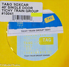 Tichy Train Group #10041 TA&G Boxcar 40' Single Door (Decal HO Scale)