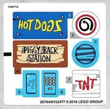 Lego Sticker 75824 Pig City Teardown New