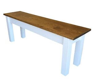 Early American Farmhouse Bench (Rustic / Dinning / Entryway / Mudroom  Foyer)