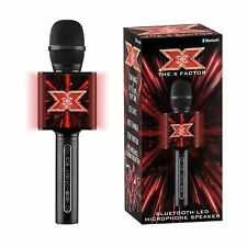 OFFICIAL X FACTOR KARAOKE MICROPHONE SPEAKER BLUETOOTH ECHO FUNCTION NEW