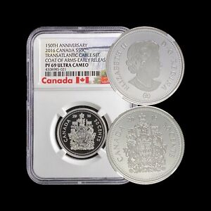 2016 Canada 50 Cents (Silver) - NGC PF 69 UC - RARE Frosted Proof