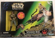 STAR WARS ACTION FIGURE SPEEDER BIKE PRINCESS LEIA POWER OF THE FORCE NEW NIB.