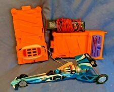 Estes Blurzz, rocket powered dragster. Blue race car set with launcher!