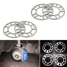 4X 5mm Aluminum ET Adjusting Shims Car Wheel Spacers Wheelbase Gasket Flange