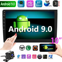 "10"" 2-Din Android 9.0 Car MP5 Player Pantalla Táctil Radio Estereo GPS WIFI Cam"