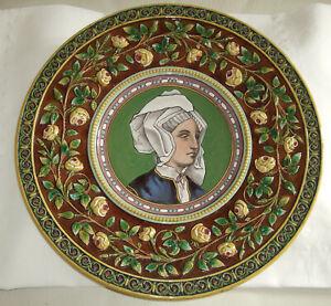 Antiker italienischer Keramik-  Majolika Teller - Sammlerrarität - Wandteller
