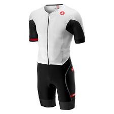 Castelli Cycling Mens Free Sanremo Suit Ss Skinsuit White/Black Large L