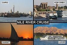 SOUVENIR FRIDGE MAGNET - CRUISE RIVER NILE EGYPT