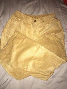 Vintage Versace Men's Gold Corduroy Pants