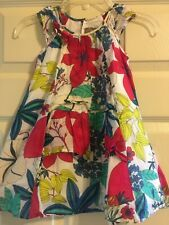 Jean BOURGET Girls Floral Flutter Sleeve Dress Size 4