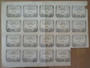 006- Ass 42e - Assignat de 50 sols - feuille de 19 exemplaires