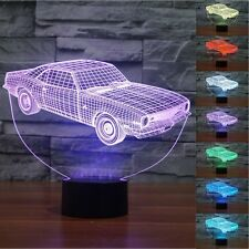 Novelty Car Shape 3D LED Night Light 7 Colors Changing Table Lamp Gift