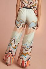 ANTHROPOLOGIE WAVES SILK PANTS size XL  $198 NWT Cocoon LA