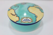"Tauck World Discovery By Tiffany & Co. 2000 - Round 5"" Trinket Box Dish Bowl"